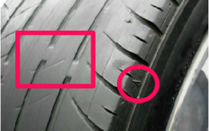 タイヤ交換 スリップサイン