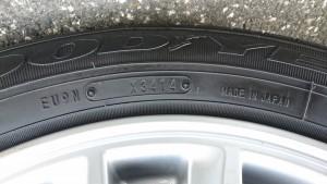 タイヤ製造年月日