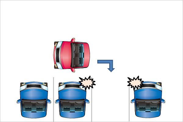 駐車車両接触